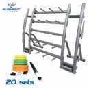 Element Fitness- 20 Set Cardio Pump with Rack