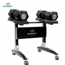 Element Fitness- Adjustable Dumbbells & Rack Set