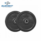 Element Fitness- Commercial Black Bumper Plate 25lbs