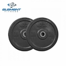 Element Fitness- Commercial Black Bumper Plate 45lbs