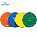 Element Fitness- Commercial Colored Bumper Plate 45lbs
