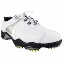 Footjoy Golf- Dry Joy Golf Shoes (#53502) **White/White/Silver Size 9.5 Medium Only**