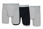 Fruit of the Loom 3-Pack Black/Grey Boxer Briefs