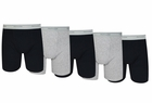 Fruit of the Loom 5-Pack Black/Grey Boxer Briefs