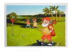 Golf Card- Santa Golfing in Florida