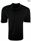 Greg Norman Golf- Textured Solid Polo Shirt