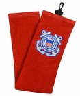 Hot-Z Golf US Coast Guard Military Tri Fold Towel