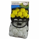 Intech Golf Practice Balls 36-Pack (24 Holes/12 Foam)