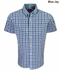 Izod Short Sleeve No-Iron Mini Plaid Button Up Shirt