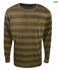 Knights of the Round Table- Long Sleeve Reverse Striped Crew Neck
