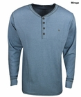 Knights of the Round Table- Long Sleeve Waffle Henley
