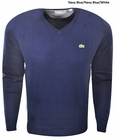 Lacoste Cotton V-Neck Sweater
