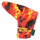 Loudmouth Golf - Liar Liar Putter on Fire Putter Cover