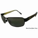 Maui Jim- Black Coral Unisex Polarized Sunglasses