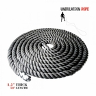 "Xtreme Monkey- Nylon Undulation Rope 50' x 1.5"" Thick"