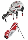 Powerbilt Golf- Junior Boys Red 9 Piece Set With Bag Ages 12+