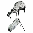 Powerbilt Golf Junior Boys Silver 9 Piece Set With Bag Ages 9-12