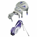 Powerbilt Golf- Junior Girls Lavender 9 Piece Set With Bag Ages 9-11