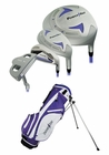 Powerbilt Golf Junior Girls Lavender 9 Piece Set With Bag Ages 9-12