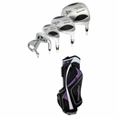 Powerbilt Golf- Ladies Air Attack 2 Complete Set With Bag Graphite