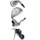 PowerBilt Golf- LH Junior 6 - Piece Complete Set with Stand Bag