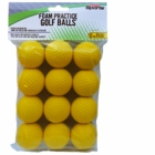 PrideSports Practice Foam 12 Count Golf Balls Yellow