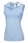 Puma Golf- Ladies Keyhole Stripe Sleeveless Polo