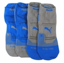 Puma- Mens 2 Pack Microfiber Low Cut Socks
