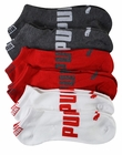 Puma Mens 6-Pack 1/2 Terry Low Cut Athletic Socks Arch Logo