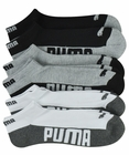 Puma Mens 6-Pack 1/2 Terry Low Cut Socks Side Logo
