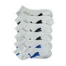 Puma- Mens 6 Pack Quarter Cut Athletic Socks P101428