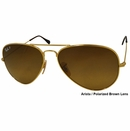 Ray Ban- Aviator Titanium Polarized Unisex Sunglasses