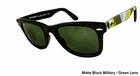 Ray Ban- Unisex Wayfarer Military Sunglasses