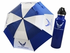 "Ray Cook Golf- US Military 62"" Double Canopy Umbrella W/21 Oz. Water Bottle"