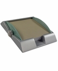 Silver and Green Memo Note Pad Holder