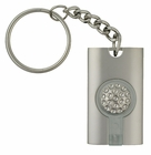 Silver Keychain with Light
