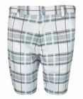 Sligo- Alloy Plaid Golf Shorts