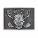 Tattoo Golf- Skull & Crossed Clubs Belt Buckle