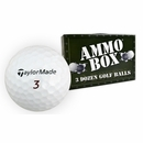Taylor Made Golf- Burner Tour Mint Used/Recycled Ammo Box Golf Balls *3-Dozen*
