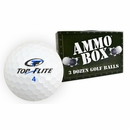 Top Flite Golf- D2 Mix Mint Used/Recycled Ammo Box Golf Balls *3-Dozen*