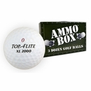 Top Flite Golf- XL 2000 Mint Used/Recycled Ammo Box Golf Balls *3-Dozen*