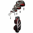 "Tour Edge Golf- GT Plus Complete Set With Bag +1"" Length Graph/Steel"