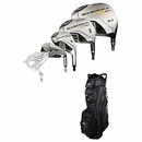 Tour Edge Golf- HT-MAX D Complete Set With Cart Bag Graphite/Steel Uniflex