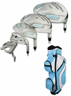 Tour Edge Golf- Ladies Reaction 3 Complete Set With Bag Graphite