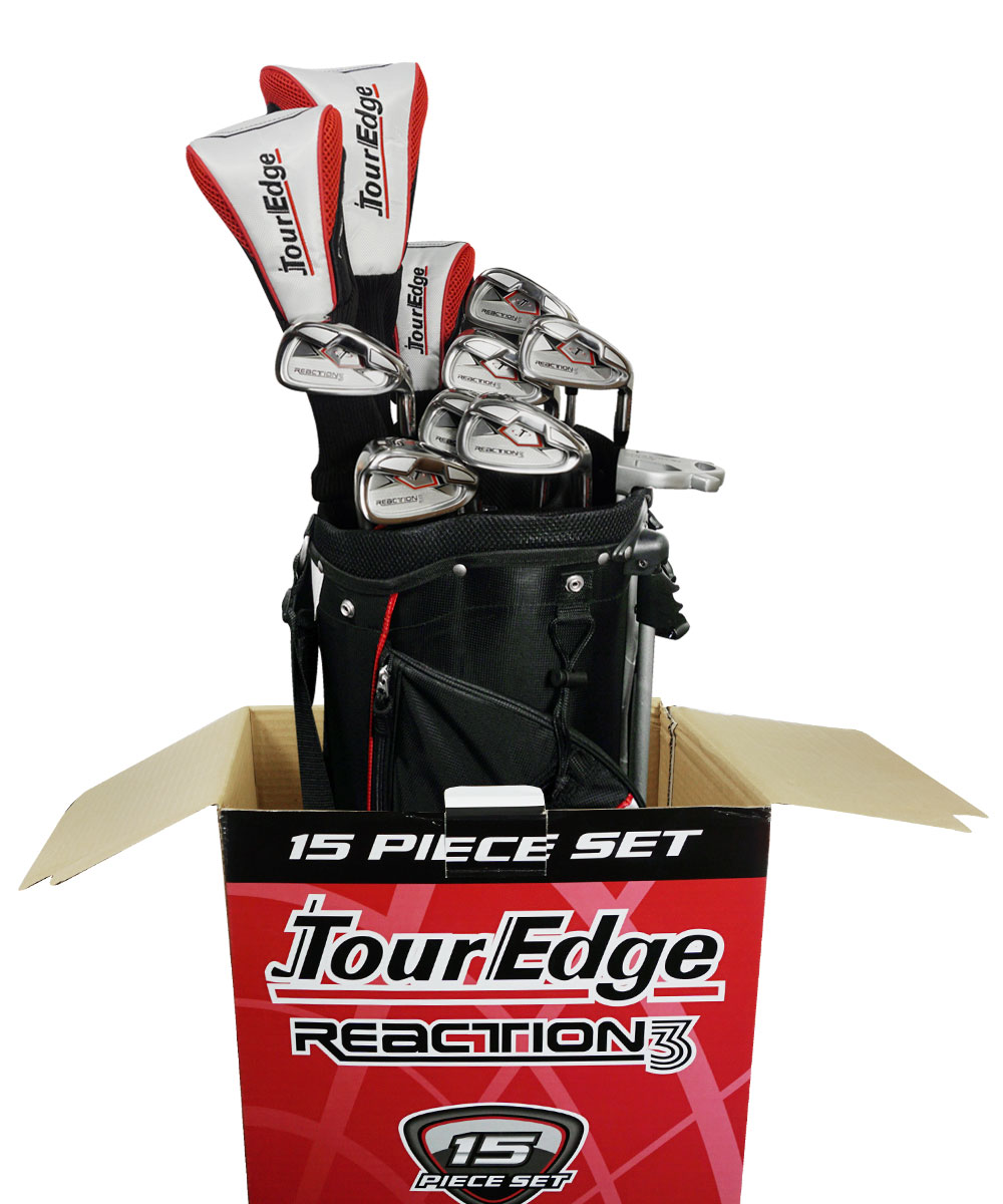 Tour Edge Golf Reaction  Complete Set With Bag