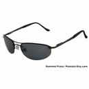 UV3 Golf- Mens Polarized Sunglasses Metal Gunmetal Frame/Gray Lenses 4431A