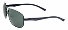 UV3+ Sunglasses- Polarized Aviator Sunglasses Gunmetal Frame/Green Lenses 4471b