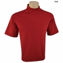 Vantage - Vansport Mens Ottoman Moisture Wicking Short Sleeve Mock Turtleneck