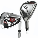 Wilson Golf- LH Staff D100 ES #4/5/6, 7-PW/GW Hybrid Irons Graphite/Steel (Left Handed)