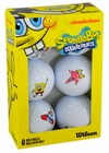 Wilson Sponge Bob & Friends 6-Pack Golf Balls